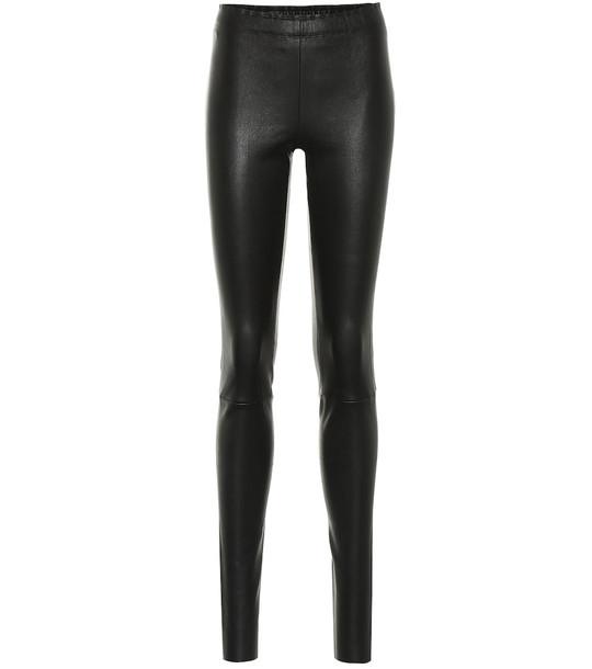 Stouls Carolyn leather leggings in black
