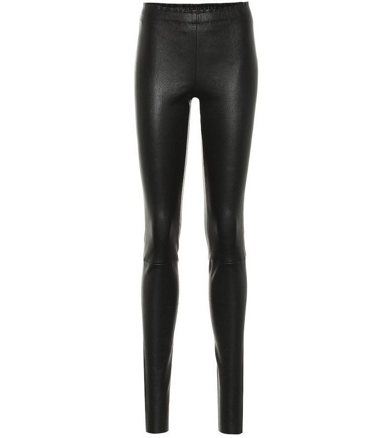 Stouls Carolyn leather leggings in black