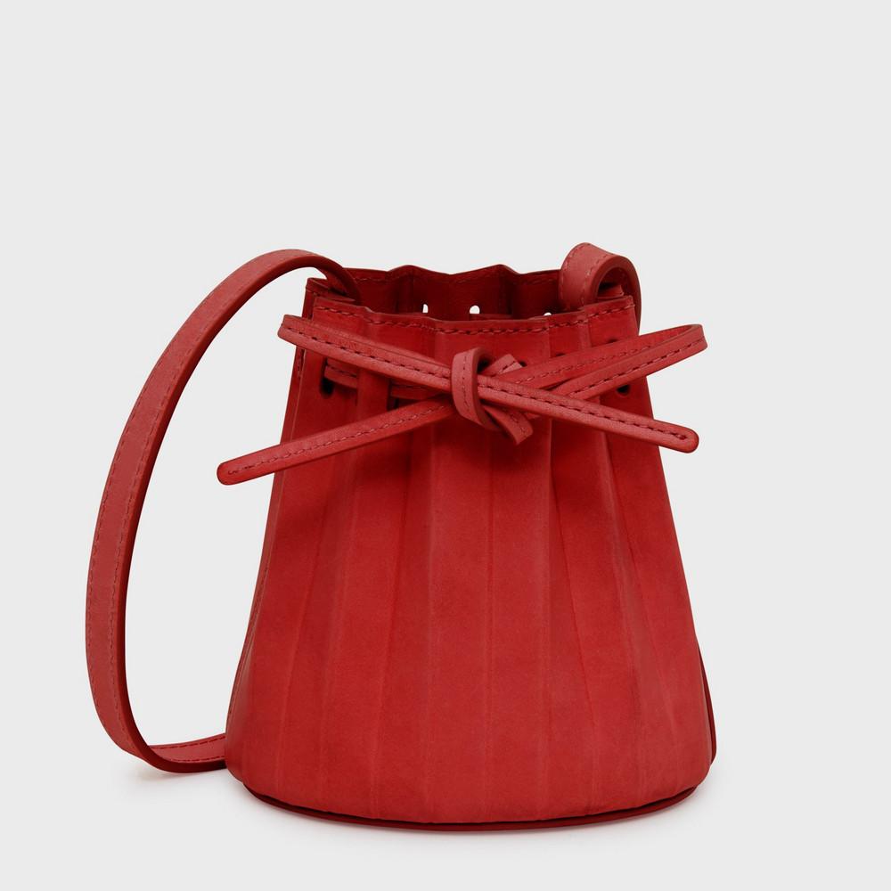 Mansur Gavriel Baby Pleated Bucket Bag - Fiesta/Flamma