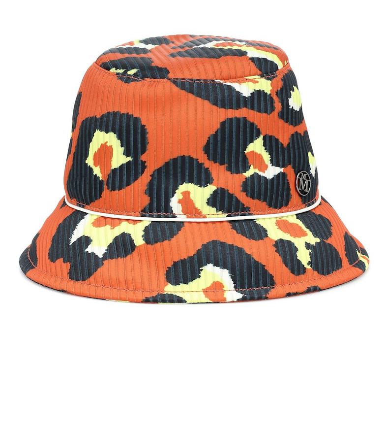 Maison Michel Souna printed bucket hat in orange