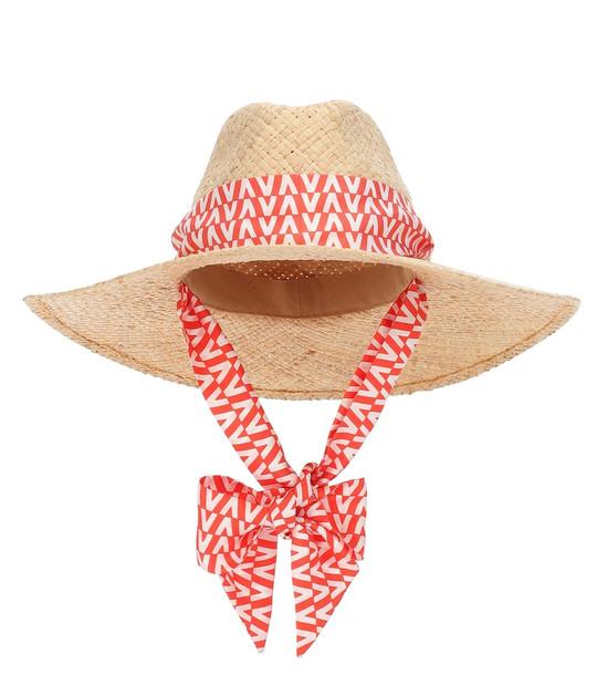 Exclusive to Mytheresa – Valentino Garavani straw hat in neutrals