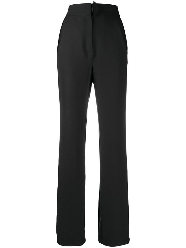 Bevza high-rise tailored trousers in black