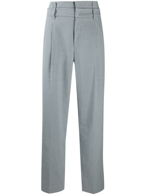 Brunello Cucinelli straight-leg tailored trousers in blue