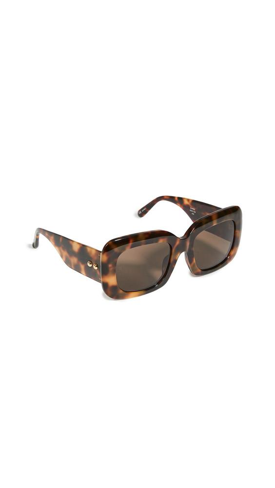 Linda Farrow Luxe Linda Farrow Lavina Sunglasses in brown / gold / yellow