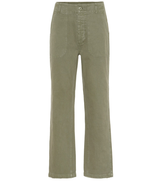 Re/Done 50s Military cotton pants in green