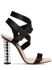 heel,sandals,silk,black,shoes