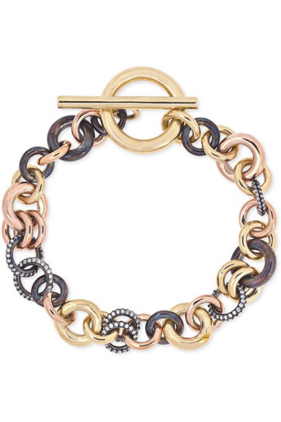 Spinelli Kilcollin - Avalon 18-karat Yellow And Rose Gold And Rhodium-plated Sterling Silver Diamond Bracelet