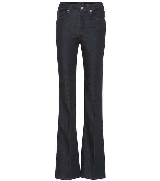 7 For All Mankind High-rise bootcut jeans in blue