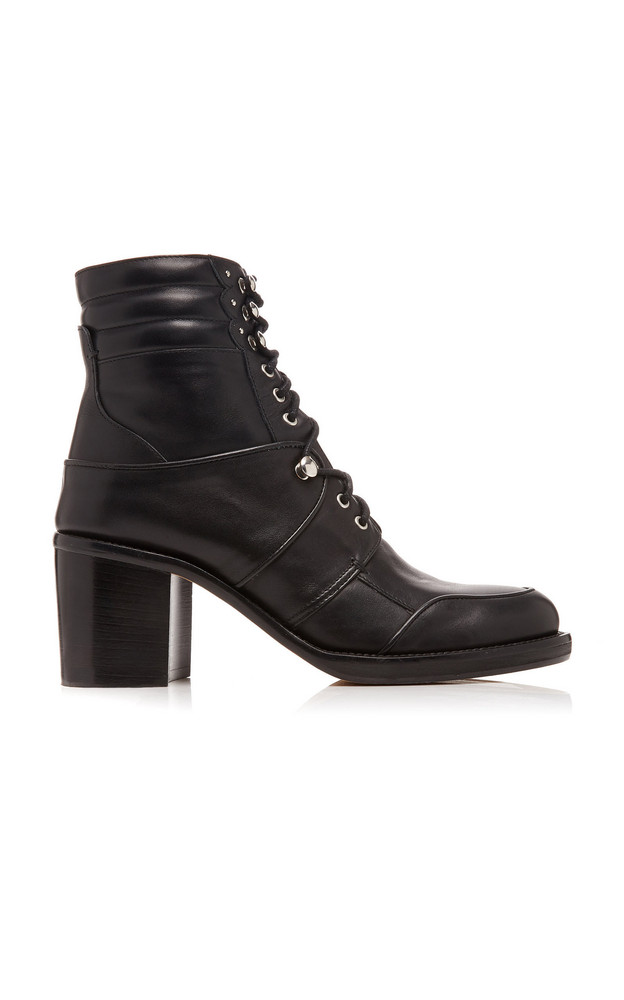 Tabitha Simmons Leo Leather Ankle Boots in black
