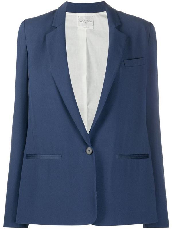 Forte Forte single-breasted blazer in blue