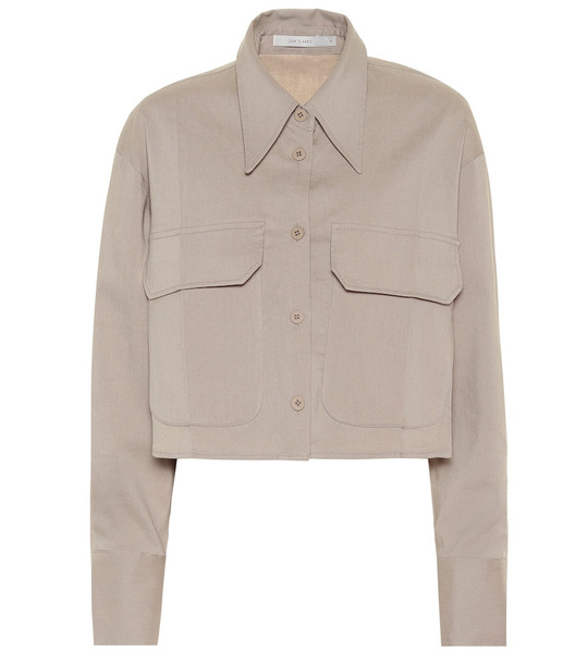 Low classic Cropped shirt in beige
