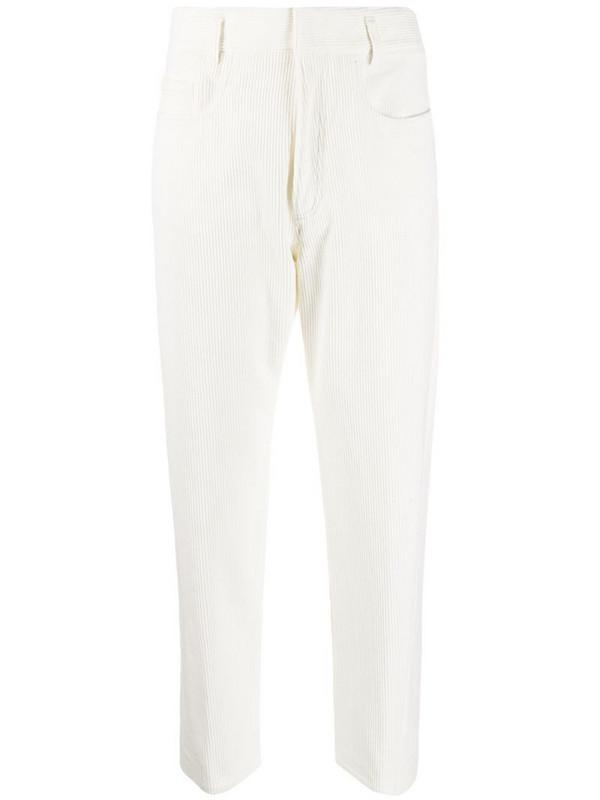 Haider Ackermann cropped corduroy trousers in white