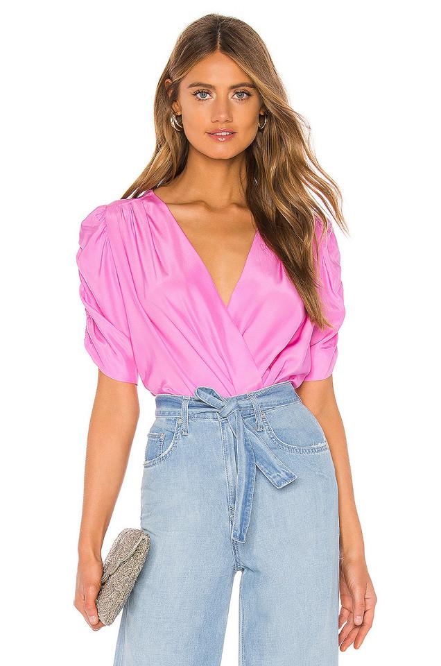 Amanda Uprichard Arabella Bodysuit in pink