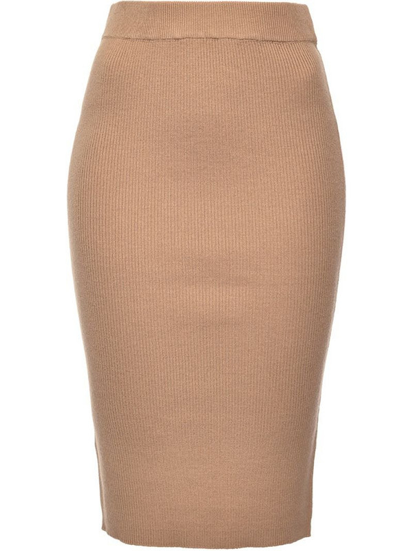 Pinko ribbed knit skirt in neutrals