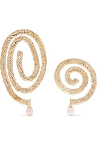 STVDIO - Delfina Gold-tone Pearl Earrings