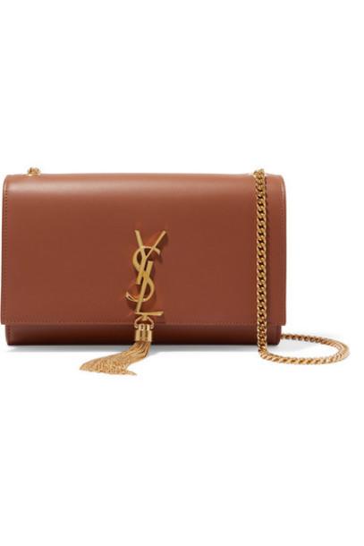 SAINT LAURENT - Monogramme Kate Large Leather Shoulder Bag - Tan