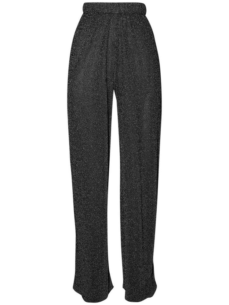 OSÉREE SWIMWEAR Lumière Lurex Straight Leg Pants in black