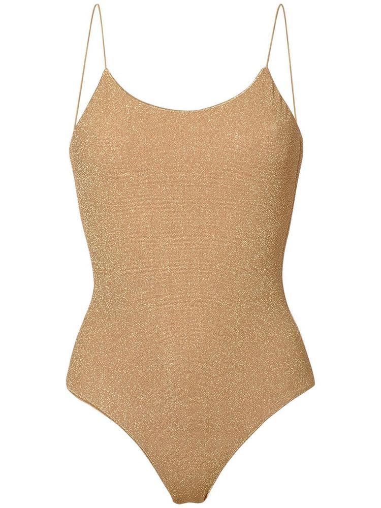OSÉREE SWIMWEAR Lumière Maillot One Piece Lurex Swimsuit in gold