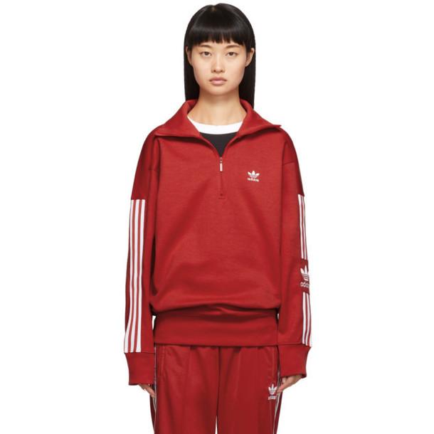 adidas Originals Red Lock Up Sweater