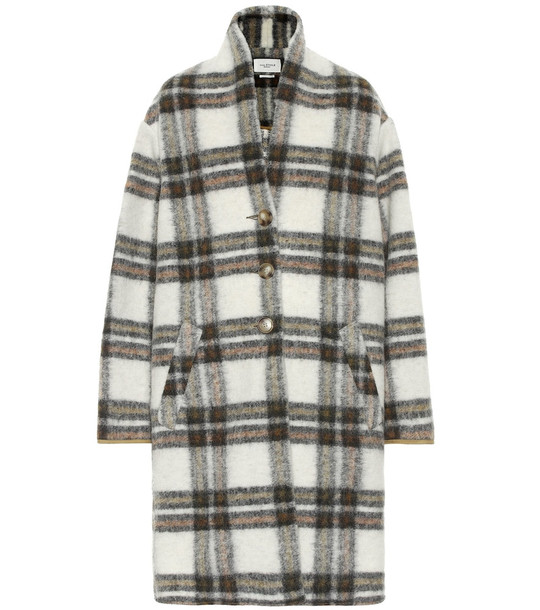 Isabel Marant, Étoile Gabriel checked wool-blend coat in beige