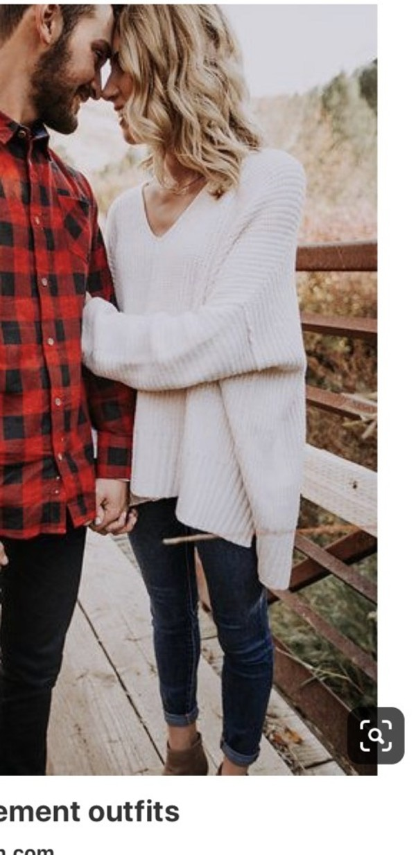 sweater white sweater knitted sweater v neck