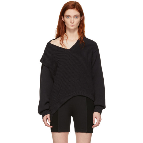 alexanderwang.t Black Utility V-Neck Sweater
