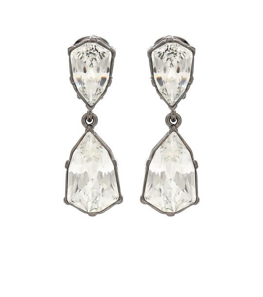 Oscar de la Renta Gallery embellished clip-on earrings in white