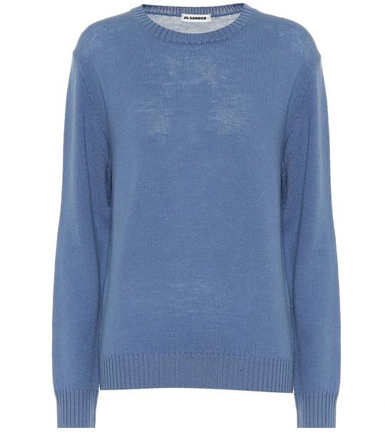 Jil Sander Wool sweater in blue