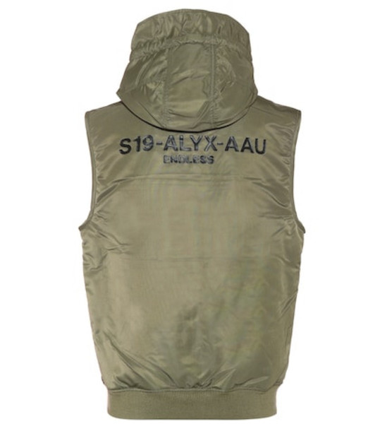1017 ALYX 9SM MA-1 hooded vest in green