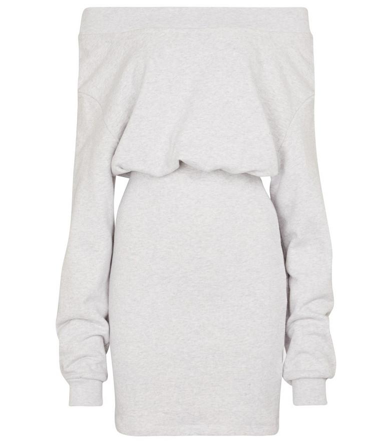 RtA Rachele cotton jersey dress in grey