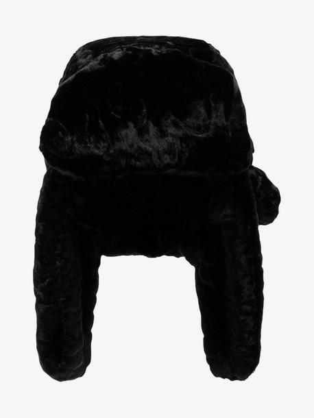 Ruslan Baginskiy RUSLAN USHANKA HAT in black