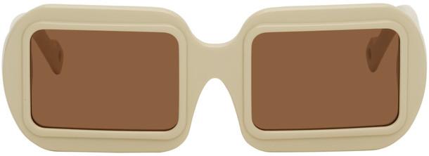 PAWAKA Off-White Dualima Sunglasses in ivory