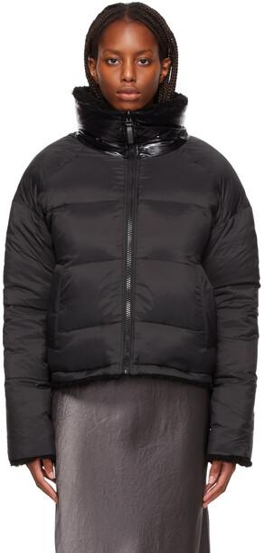 Yves Salomon - Army Reversible Black Down Sherpa Jacket