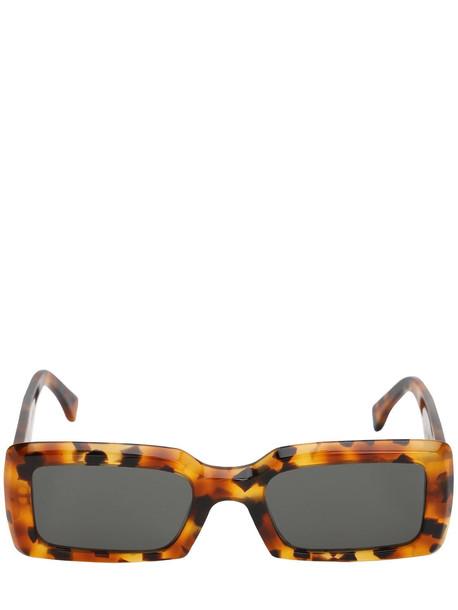RETROSUPERFUTURE Sacro Dark Havana Acetate Sunglasses in black