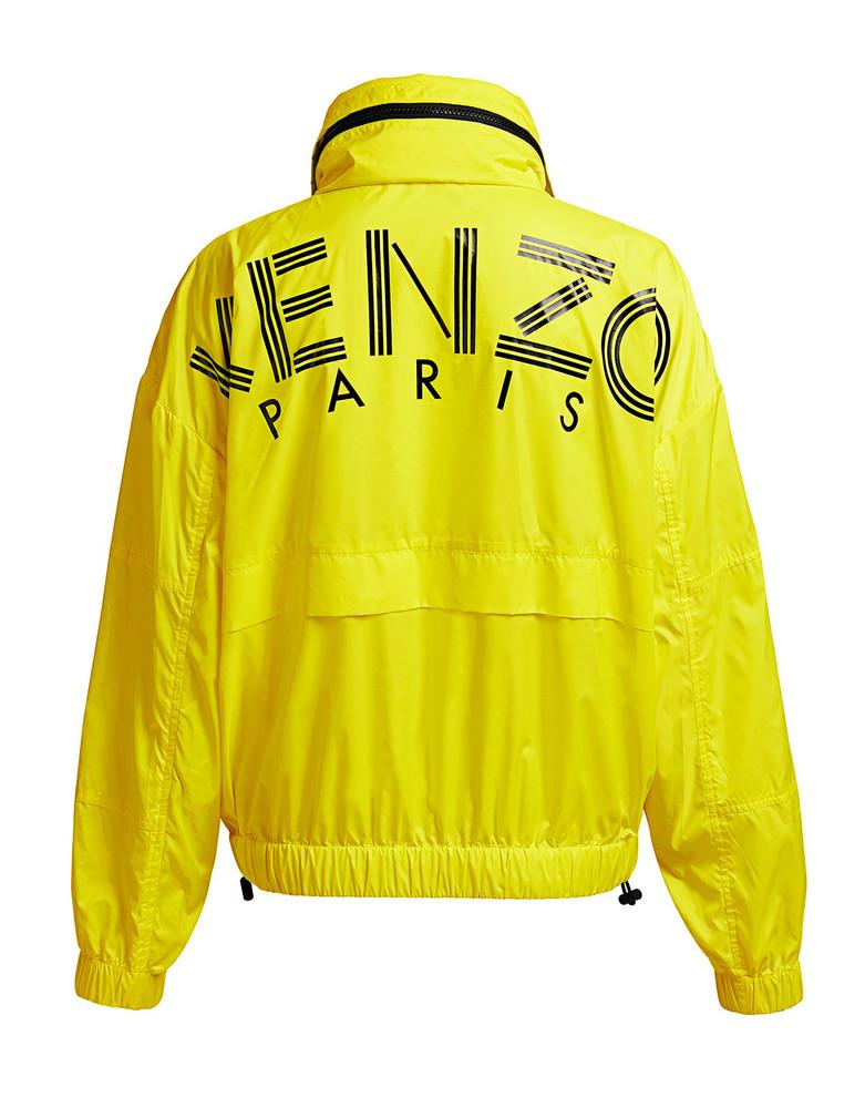 Kenzo Nylon Back Logo Windbreaker Jacket Yellow