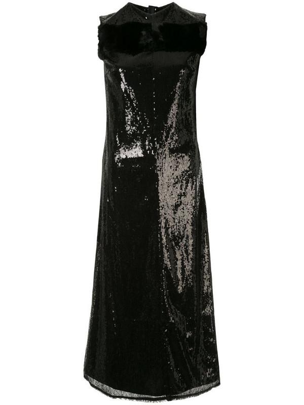 Yang Li sequinned midi dress in black
