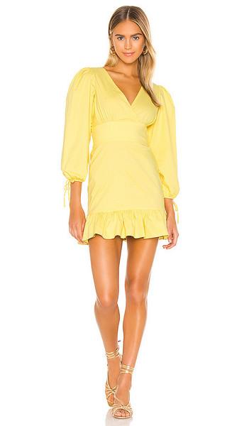 MAJORELLE Heidi Mini Dress in Lemon in yellow