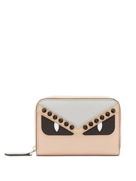 Fendi - Bag Bugs Zip Around Leather Wallet - Womens - Pink Multi