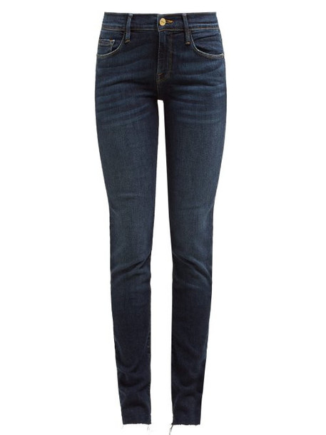 Frame - Le Skinny De Jeanne Raw Hem Jeans - Womens - Dark Denim