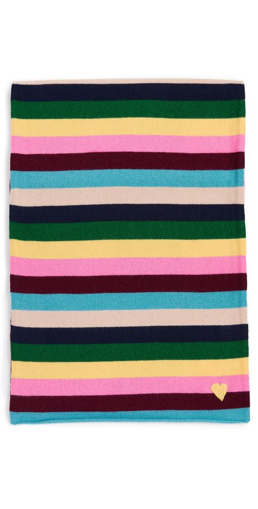 Kerri Rosenthal Sweet Stripe Cashmere Scarf in multi