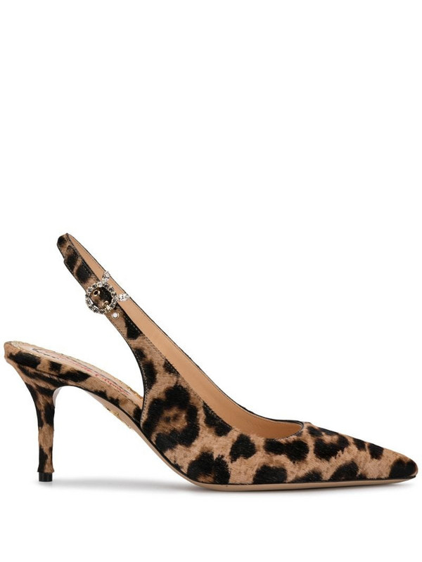 Charlotte Olympia pointed leopard print pumps in neutrals