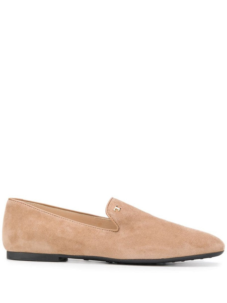 Tod's suede slippers in neutrals