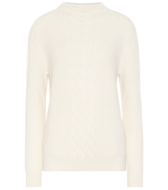 A.P.C. Nico wool and cashmere sweater in white