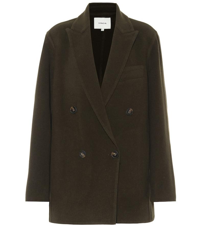 Vince Wool-blend blazer in green