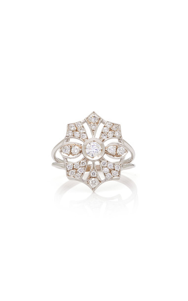 Melis Goral Paris 18K Gold Diamond Ring in white