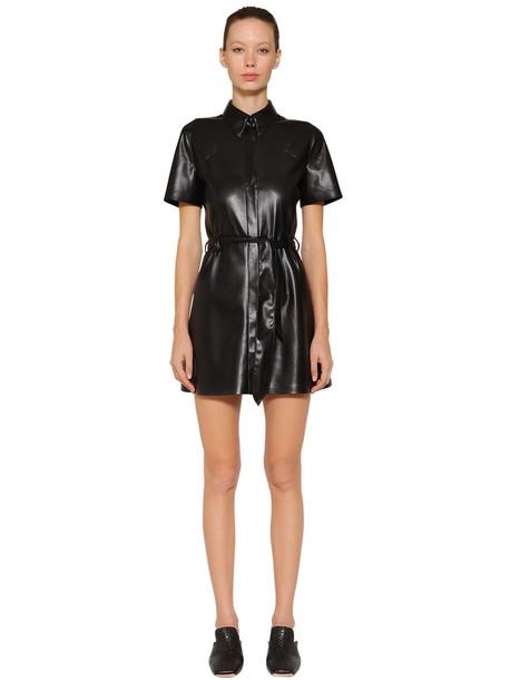 NANUSHKA Roberta Faux Leather Dress in black
