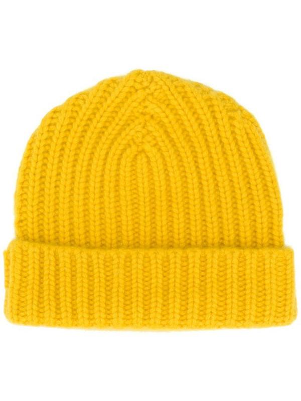 Warm-Me Alex cashmere beanie hat in yellow
