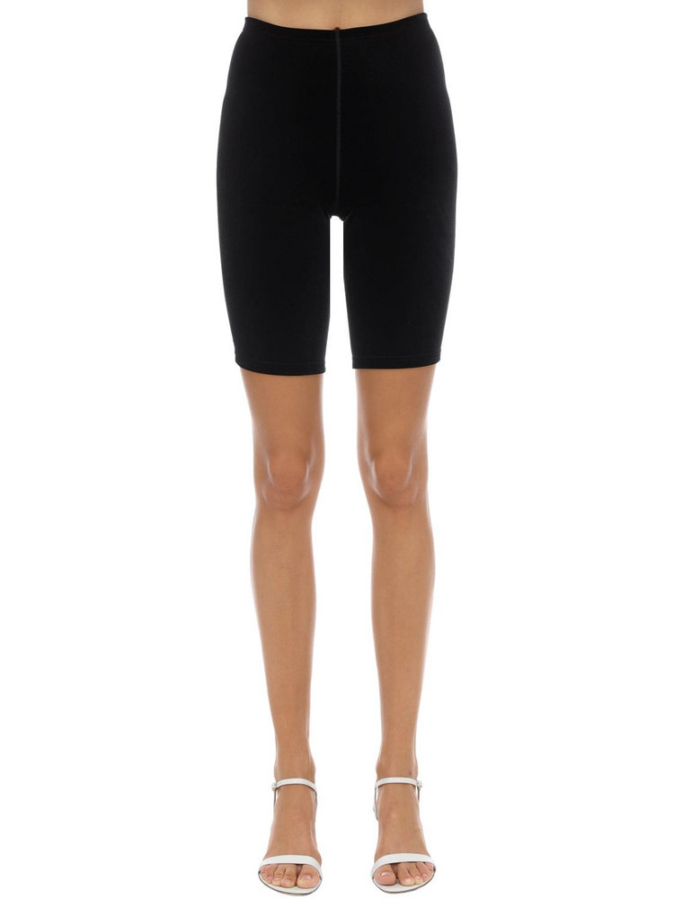 VELVET SOCK'S BY SIMONE WILD Techno Velvet Cycle Shorts in black