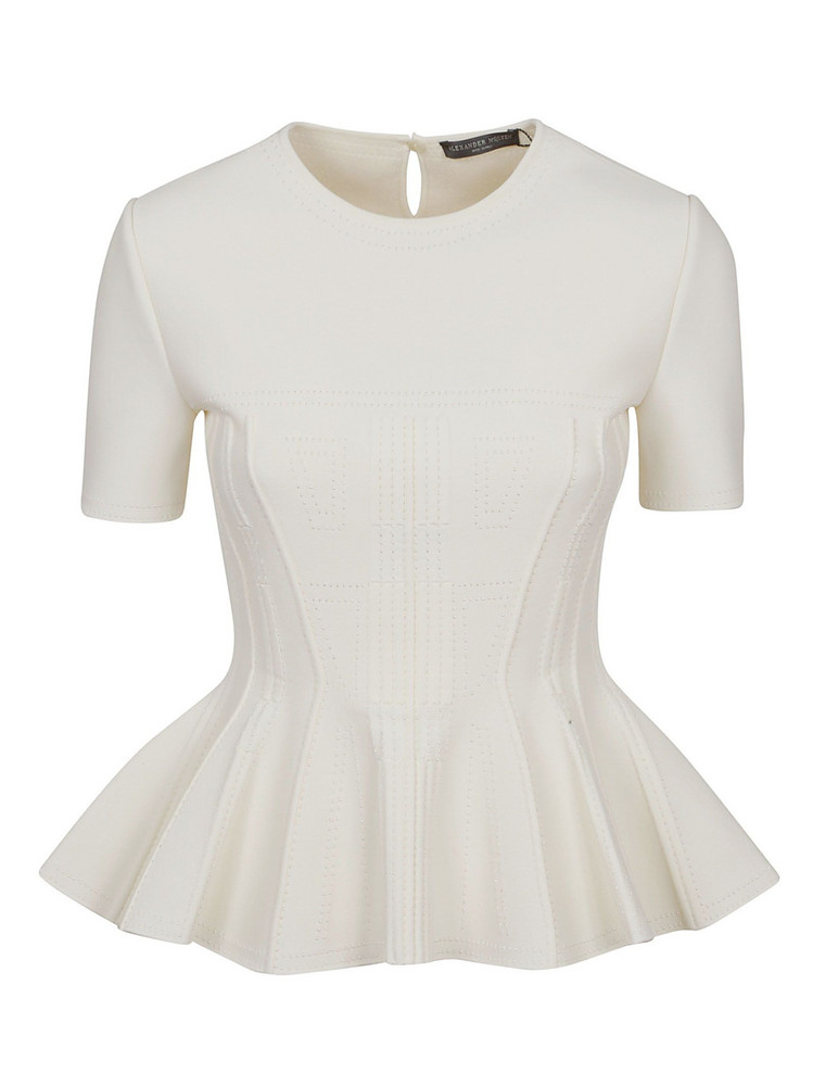 Alexander Mcqueen Pleated Blouse in ivory