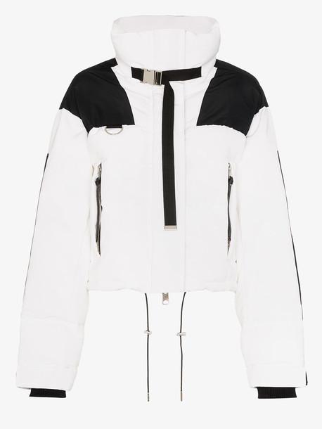 SHOREDITCH SKI CLUB Laurel panel puffa jacket in white